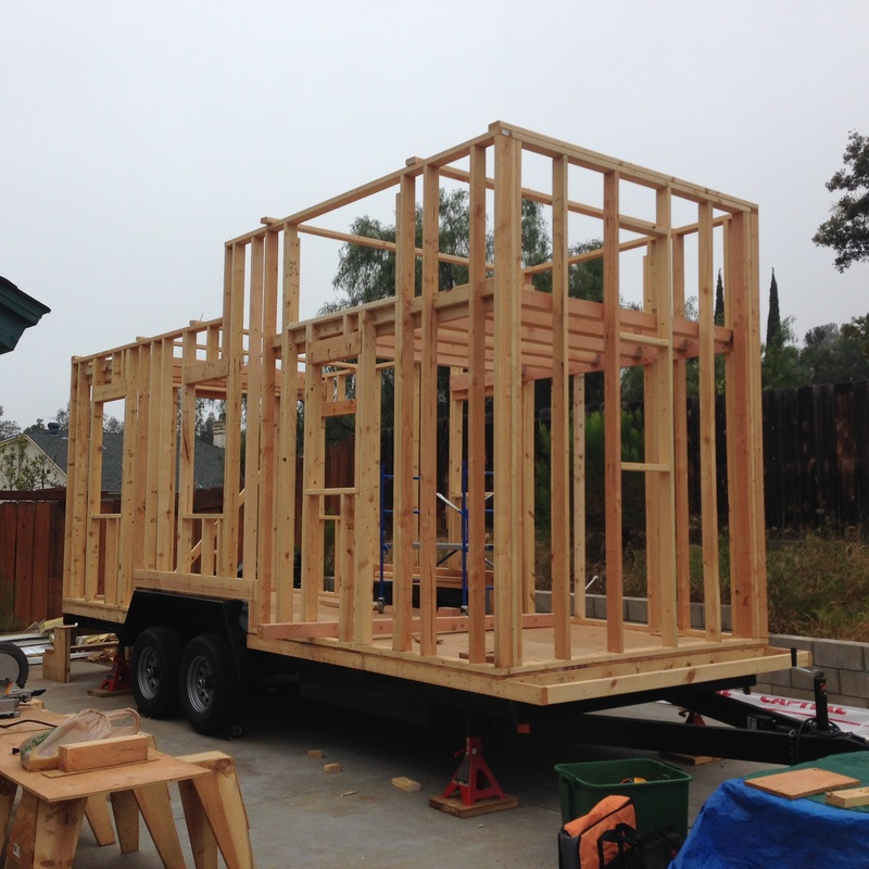 The Eddy Hajas Tiny House Experience 03 Wall Framing